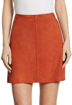 Theory Irenah A-Line Suede Skirt