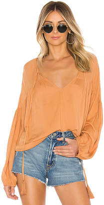 Indah Somi Solid Easy Oversize Summer Blouse