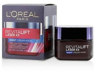 L'Oreal NEW Revitalift Laser x3 New Skin Anti-Aging Night Cream-Mask 50ml Womens