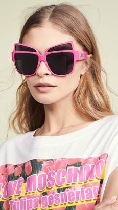 Moschino Oversized Acetate Sunglasses