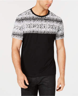 INC International Concepts I.n.c. Men's Snakeskin-Print T-Shirt, Created for Macy's
