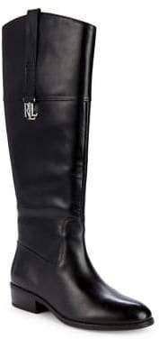 Lauren Ralph Lauren Round Toe Leather Tall Boots