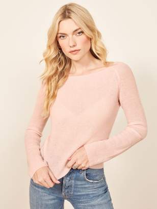 Reformation Cashmere Boat Neck Sweater