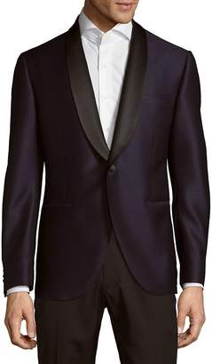 Lubiam Men's Navy Wool Jacket