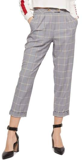 Windowpane Plaid Trousers