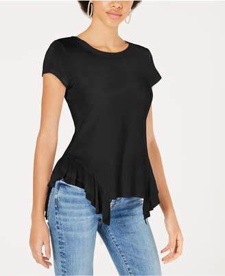 Stella + Ginger Ruffled Chiffon-Contrast T-Shirt