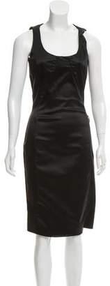 Galliano Midi Sleeveless Sheath Dress
