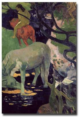 White Horse Trademark Global Paul Gauguin The 1898 Canvas Art 24
