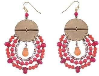 Nakamol Design Rose Mixed Media Drop Earrings