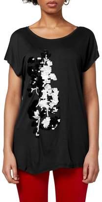 Esprit Graphic Printed Crew Neck T-Shirt