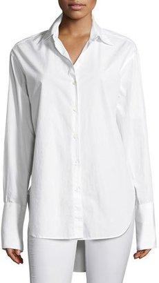 Rag & Bone Essex Poplin Oversized Poplin Shirt, White