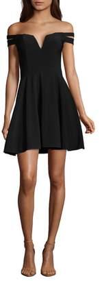 Xscape Evenings Off the Shoulder Double Strap Party Dress