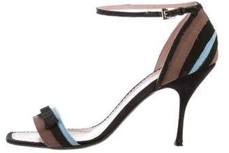 Prada Multicolor Ankle Strap Sandals