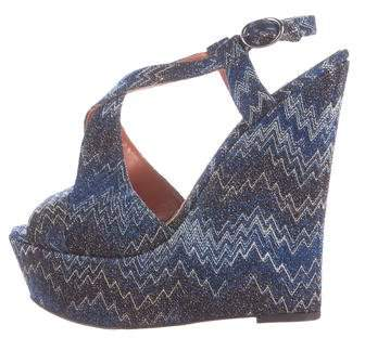 Missoni Metallic Wedge Sandals
