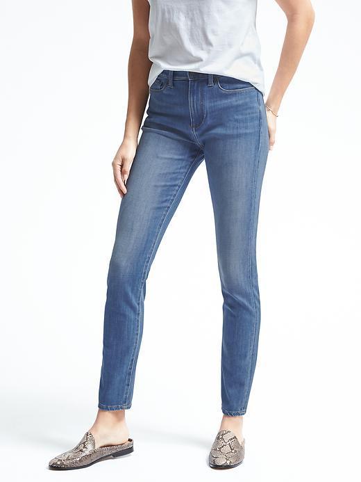Banana Republic Zero Gravity Light Wash High-Rise Skinny Jean