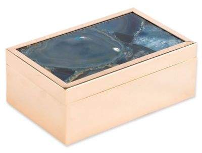 Zuo® Agate Pattern Small Box in Blue