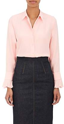 Barneys New York Women's Silk Satin-Back Crepe Blouse