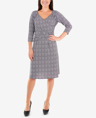 NY Collection Plaid Fit & Flare Dress