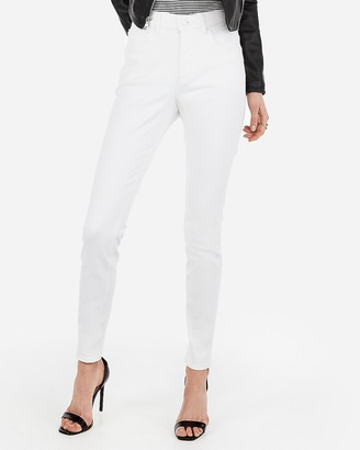 Express High Waisted White Perfect Curves Jean Leggings
