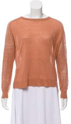 Theory Mesh Linen Sweater