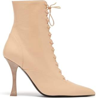 Brock Collection X Tabitha Simmons Leather Ankle Boots - Womens - Light Pink