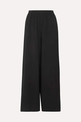 The Row Pavel Crepe Wide-leg Pants - Black