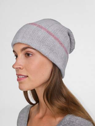White + Warren Cashmere Wide Rib Beanie