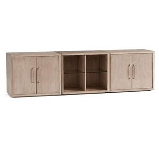 Pottery Barn Danielle Double Two Door Cabinet TV Stand