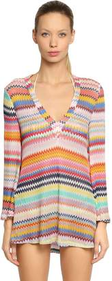 Missoni Viscose Knit Short Caftan Top