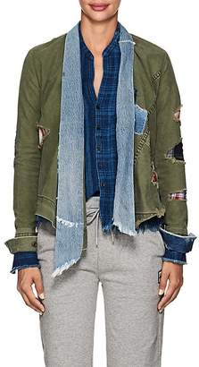Greg Lauren Women's Patchwork Canvas & Denim Kimono Jacket