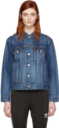 Levi's Blue Ex-Boyfriend Trucker Jacket $100 thestylecure.com