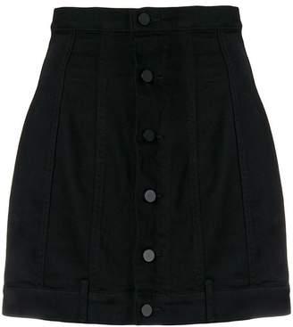 Alexander Wang seamed fitted denim skirt