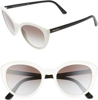 e9e7920bbca0 Prada White Women's Sunglasses - ShopStyle