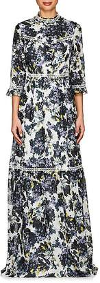 Women's Shebah Floral Cotton-Silk Gown