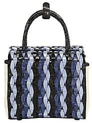 Nancy Gonzalez Women's Mini Woven Crocodile Box Bag