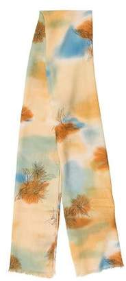 Loro Piana Cashmere & Silk-Blend Floral Scarf