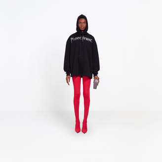 Balenciaga Oversize hoody with Femme Fatale embroidery at chest