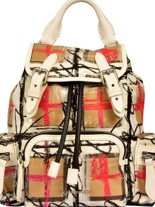 Burberry Mini Scribble Vintage Check Backpack