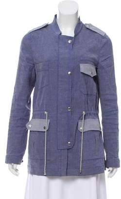 Veronica Beard Linen Drawstring Jacket