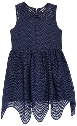 Bardot Junior Spiral Lace Fit & Flare Dress