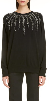 Givenchy Willow Embellished Wool & Cashmere Sweater