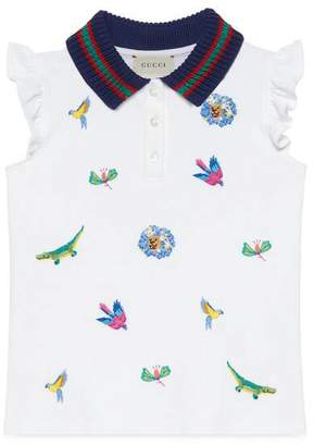 Gucci Children's embroidered polo