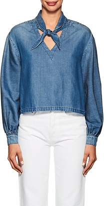 Frame Women's Chambray Long-Sleeve Top