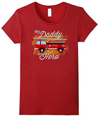 Hero Shirts: My Firefighter Daddy Is A Hero Shirt For Kids