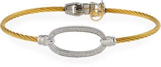 Alor Oval Diamond-Station Cable Bracelet Gold