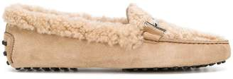 Tod's Gommini shearling loafers