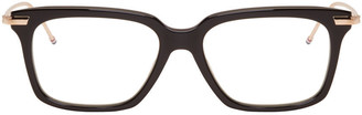 Thom Browne Black & Gold TB 701 Glasses $475 thestylecure.com