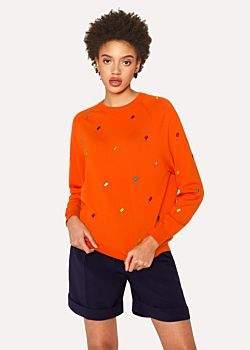 Paul Smith Women's Orange 'Ice Lolly' Wool Sweater