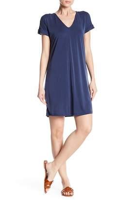 Vanity Room Short Sleeve Back Slit Dress