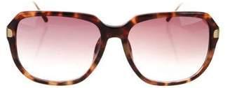 Linda Farrow Luxe Tortoiseshell Acetate Sunglasses